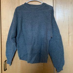 H&M Gray Oversized Knit Sweater